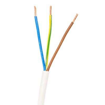 4mm 3 Core Flex Cable White 100m Drum 3183Y