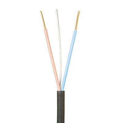 1.5mm Jayflame 2 Core Cable Black 100m Drum