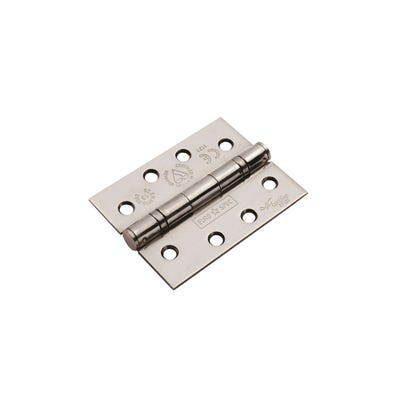 Eurospec Grade 13 Ball Bearing Hinge 102mm Bright Stainless Steel Pack of 2