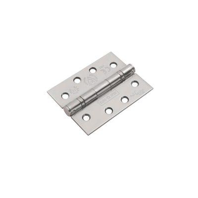 Eurospec Grade 13 Certifire Hinges 102mm Satin Stainless Steel 3 Pack