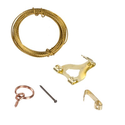 Picture Hanging Kit Brass