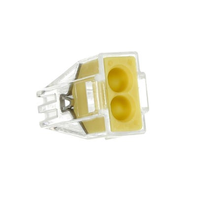 Wago 2 Way Push Wire Cable Connector 773 Series Yellow Pack of 20