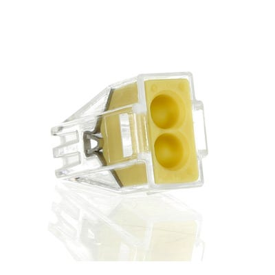 Wago 2 Way Push Wire Cable Connector 773 Series Yellow Box Of 100