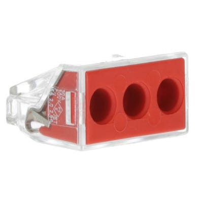 Wago 3 Way Push Wire Cable Connector 773 Series Red Box Of 50