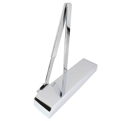 Rutland Door Closer EN2-4 with Back Check & Polished Chrome Cover