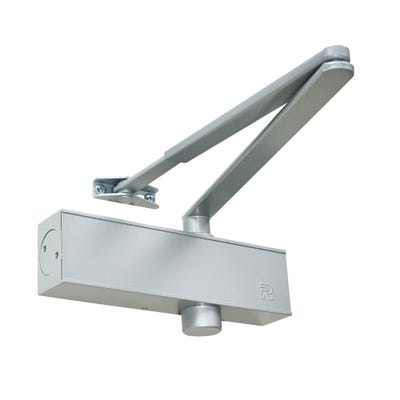 Rutland Door Closer EN2-5 & Silver Trimplate