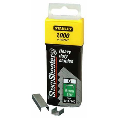 Stanley 6mm Heavy Duty Staples Pack Of 1000 STA1TRA704T