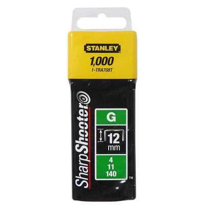 Stanley 12mm Heavy Duty Staples Pack Of 1000 STA1TRA708T