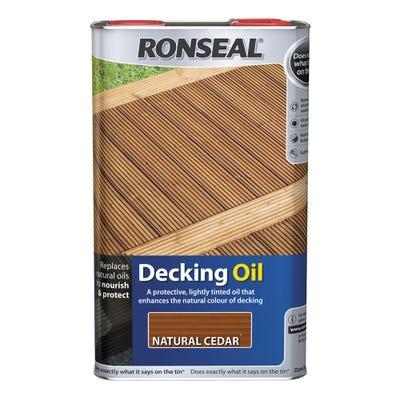 Ronseal Decking Oil Natural Cedar 5L