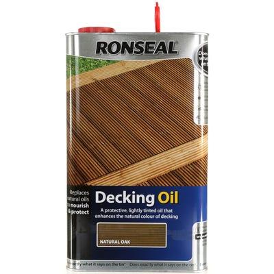 Ronseal Decking Oil Natural Oak 5L