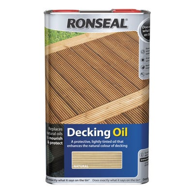 Ronseal Decking Oil Natural Clear 5L