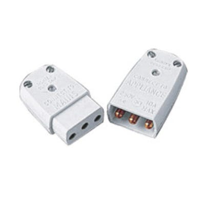 BG Nexus 10A 3 Pin Flex Connector Shrouded Non-Reversible Male & Female 452