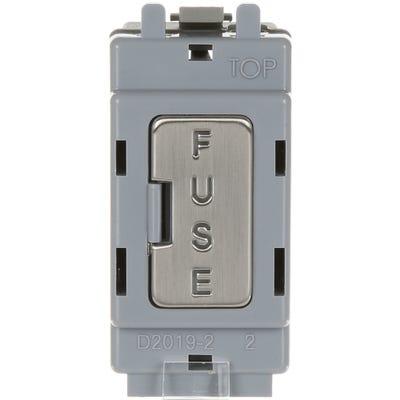 BG Nexus 13A Fuse Holder Brushed Steel GBSFUSE-01