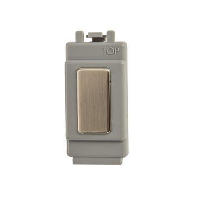 BG Nexus 1 Gang Grid Module Blank Brushed Steel GBSBLNK-01