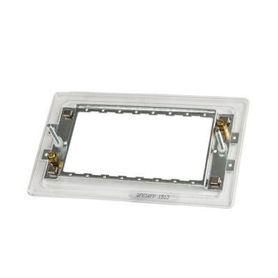 BG Nexus Metal Clad 3 & 4 Module Grid Mounting Frame (Yolk) for Screwless Range GFR34FP-01