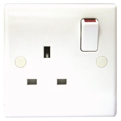 BG Nexus 13A 1 Gang Double Pole Socket Outlet 821DP