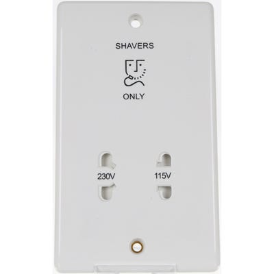 BG Nexus 115/230V Dual Voltage Shaver Socket 820-01
