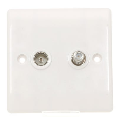 BG Nexus 2 Gang Satellite & Co-Axial TV Socket 865-01