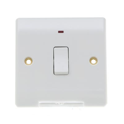 BG Nexus 20A Double Pole Switch & Neon 831-01