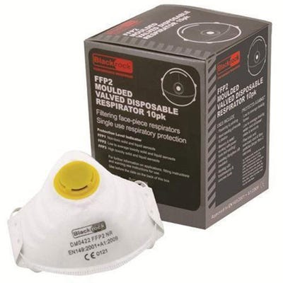 Blackrock Dust Mask Moulded Valved FFP2 Pack of 10