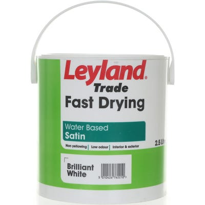Leyland Trade Fast Drying Water Based Satin Brilliant White