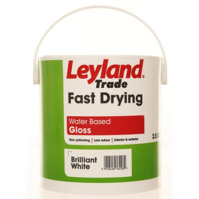 Leyland Trade Fast Drying Water Based Gloss Brilliant White