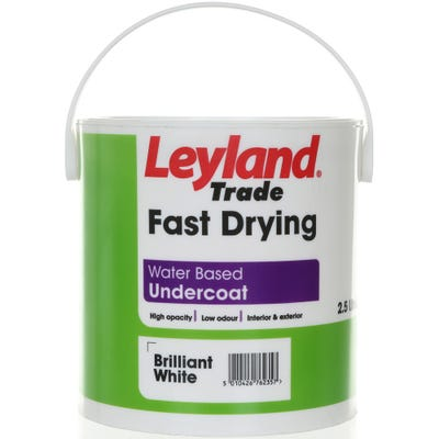 Leyland Trade Fast Drying Water Based Undercoat Brilliant White