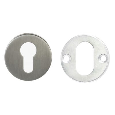 Euro Escutcheon on Round Rose Stainless Steel (Each)