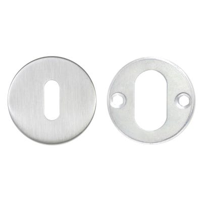 Key Escutcheon on Round Rose Stainless Steel (Each)