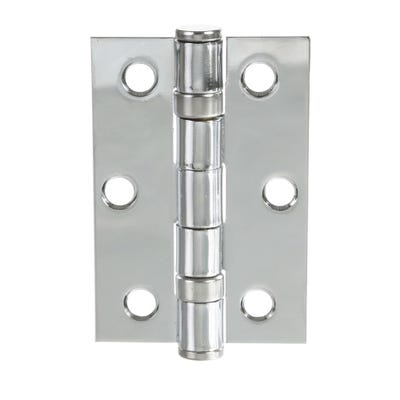Ball Bearing Hinges 76mm Polished Chrome