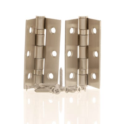 Ball Bearing Hinges 76mm Satin Chrome