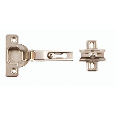 Unsprung Cabinet Hinges 90° 35mm Pack of 2