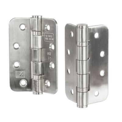 Grade 13 Fire Radius Hinge 102mm Satin Stainless Steel Pack of 3