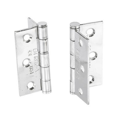 Grade 7 Fire Hinges With Intumescent Plates Plated 76mm Bright Zinc Pack of 3