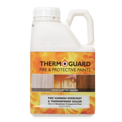 Thermoguard Fire Varnish Overcoat & Thermoproof Sealer Satin (20 SQM)