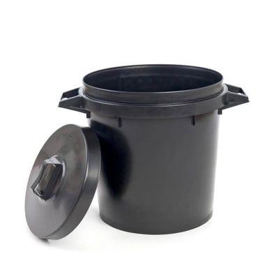 Heavy Duty Plastic Dustbin & Lid 90L