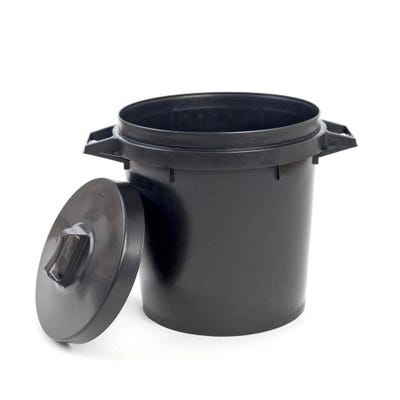 Heavy Duty Plastic Dustbin & Lid 90L