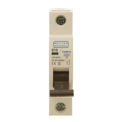 BG Nexus 10A MCB Single Pole (Type B) CUMB10