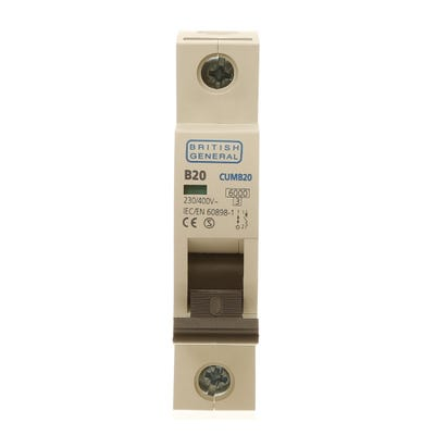 BG Nexus 20A MCB Single Pole (Type B) CUMB20