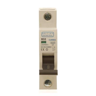 BG Nexus 32A MCB Single Pole (Type B) CUMB32