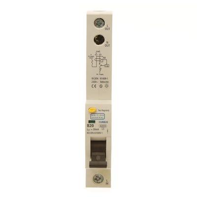 BG Nexus RCBO Single Pole 20A Type B CURB20