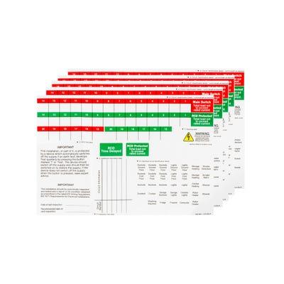 BG Nexus Consumer Unit Spare Label Sheet (Pack of 5) CUA11