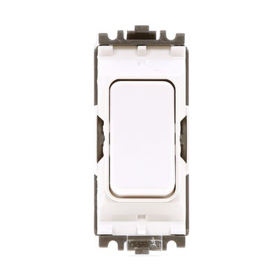 MK 20A Double Pole 1 Way Grid Plus Switch Module K4896WHI