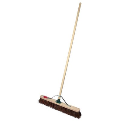 ProDec Stiff Sweeping Broom 600mm (24'') Complete