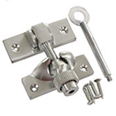 Lockable Brighton Sash Fastener 58mm Satin Chrome