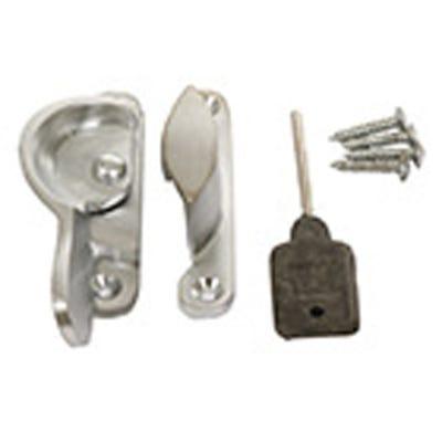 Narrow Locking Fitch Fastener 65mm Satin Chrome
