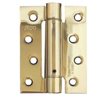 Self-Closing Spring Hinge Fire Tested 102mm Electro Brass Pack of 3