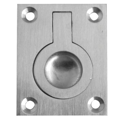Frelan Flush Ring Pull Satin Chrome
