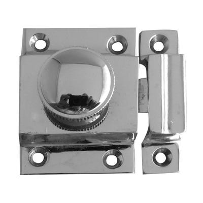 Frelan Door Catch 27mm x 41mm Polished Chrome