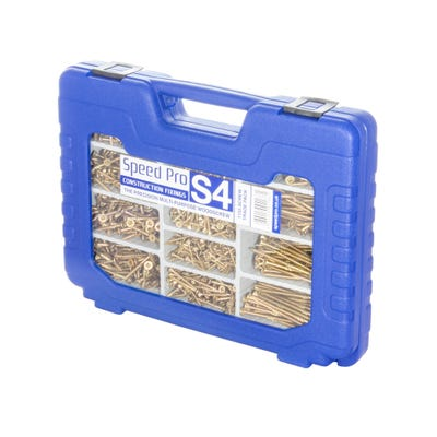 Speed Pro S4 High Performance Wood Screws Trade Case 1155 Pieces